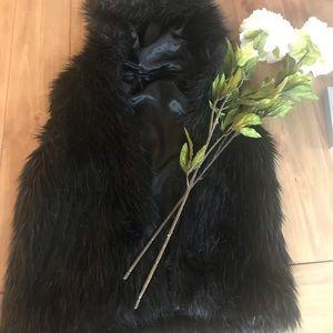 ADORABLE Black Fur Vest